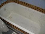 Bañera antes de reparar